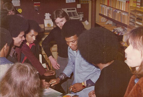 Johnny Nash signs some tunes and smokes!