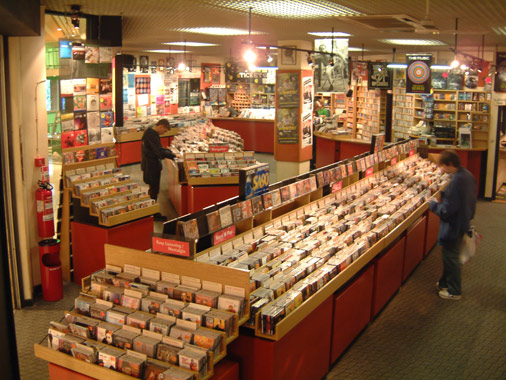 Jumbo Records in the St. Johns Centre, Leeds